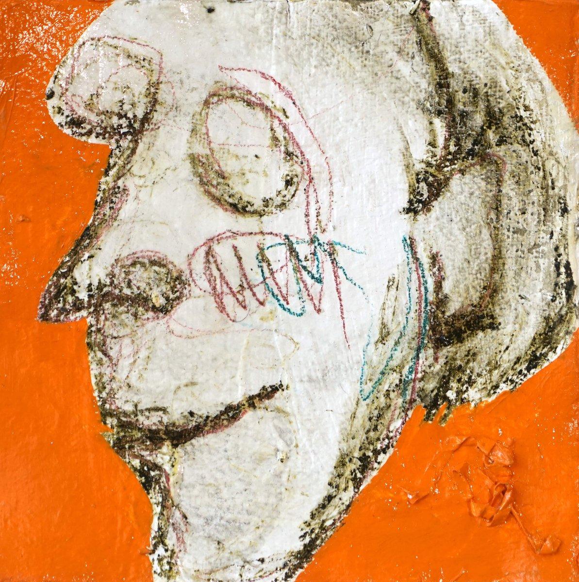 "9"" x 9"" Oil Painting $150 . . . . . . . . . . . . . #head #face #painting #grasp #fineart #decor #wallart #figure #figurative #womanmodel #lips #nose #hair #hold  #interiordesign #graceandfrankie #klimt #impressionist #expressionist #expression #headless"