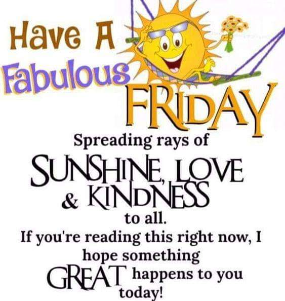 Good Morning All; Sending Many Blessings Have a Fabulous Friday!  #love #instagramers #goodmorning #tweegram #oraclereadings #humpday #fridaymorning #greetings #sun #morning #riseandshine #memeoftheday #coffee #instadaily #cbdoil #motavation #fridayvibe #refresh #universepic.twitter.com/qTV6OKL7CT