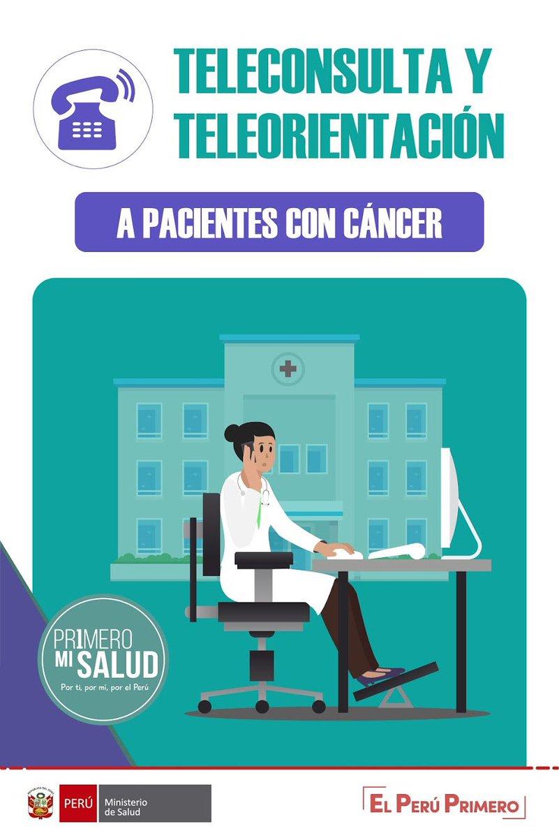 #PrimeroMiSalud | La atención de pacientes oncológicos continúa a través de teleconsulta en los principales hospitales e institutos del país ☎️. https://t.co/bhpp5kI4Rt