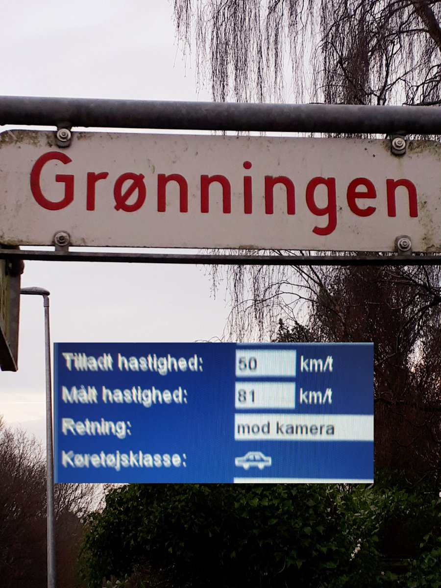 Landevejshastighed i by-zone er NO GO! Vi har igen målt hastighed på Grønningen i Haderslev i dag. 42 bilister får snart en kedelig hilsen fra os. To af dem får et klip sammen med bøden. Hurtigste blev målt til 81 km/t. Slap nu af i trafikken. #politidk #atkdk https://t.co/LEFCYXKvzU