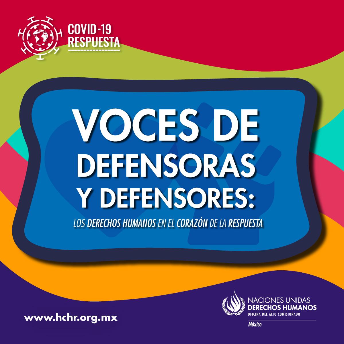 """El día de hoy, la ONU-DH da inicio a la campaña """"Voces de #Defensoras y #Defensores, los Derechos Humanos en el Corazón de la Respuesta"""", con la cual busca visibilizar el trabajo de defensores de #DDHH ... https://t.co/mrXA2icgBH"""