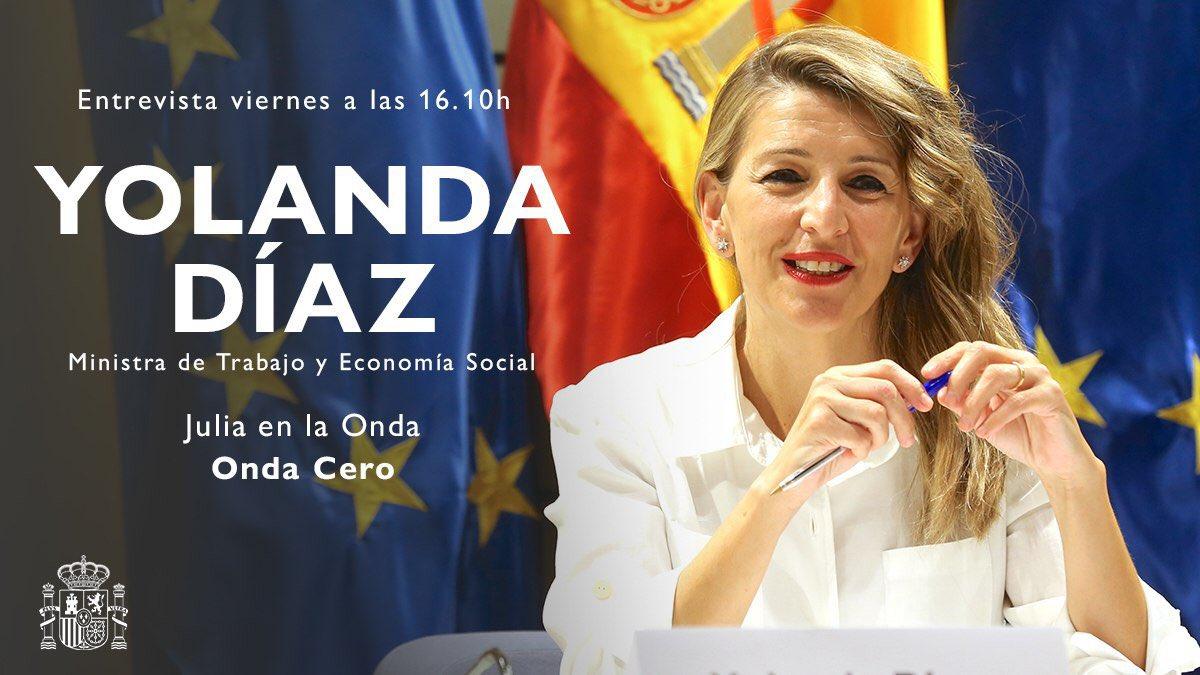 📻 A partir de las 16.10h estaré en @Juliaenlaonda para hablar del plan para el impulso del empleo de calidad suscrito esta mañana con los agentes sociales. 🔴 Puedes escuchar la entrevista en directo: bit.ly/31EeY6k