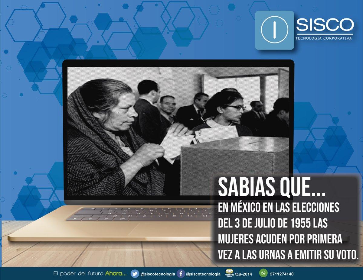 El 3 de junio de 1955, las mujeres mexicanas acuden por primera vez a las urnas a emitir su voto, para elegir diputados federales para la XLIII Legislatura. 😮🙋♀️📝 #Sisco #México #Voto #Mujer