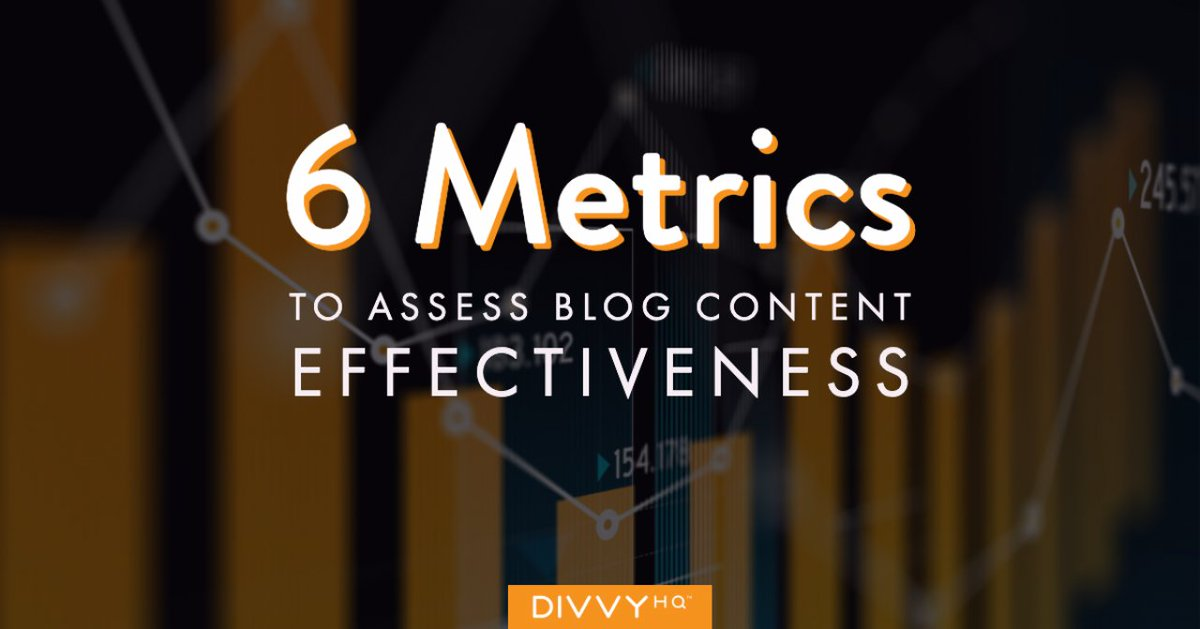 Here are 6 metrics to assess the effectiveness of your blog content.  From @BrodyDorland via @DivvyHQ  https://chief.ist/zB2   #contentmarketing #contentplanning #marketingpic.twitter.com/sMTKEvqV8s