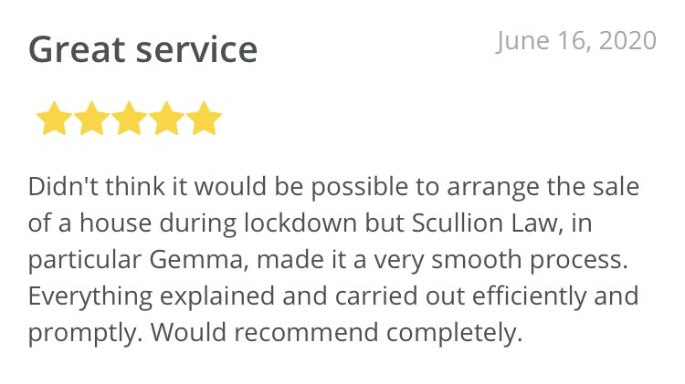 Feedback Friday ⭐️⭐️⭐️⭐️⭐️ if you are #buying or #selling 🏡 property, we can help #Residential #Conveyancing📞 0141 374 2121 #ScullionLAW #Happy #Excellent #Review #Service #Professionalism