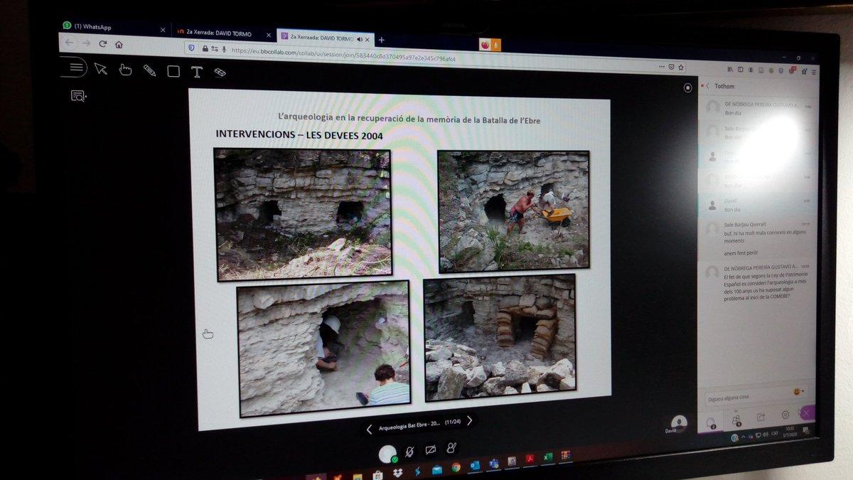Des del 2015 la professora @QBru coordina pràctiques de camp del Grau d'Arqueologia a jaciments de la Guerra Civil. Han excavat vestigis a #CorberadEbre #VilalbadelsArcs i #Flix