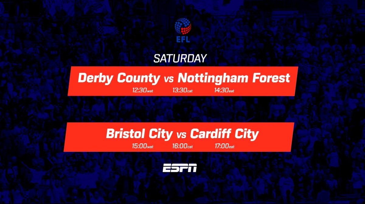 Don't miss the English Football League (Championship) as teams battle for promotion and fight to avoid the drop, showing on ESPN  The excitement never ends!  #StarTimesSports #Championship https://t.co/s3BEvBXo1Z