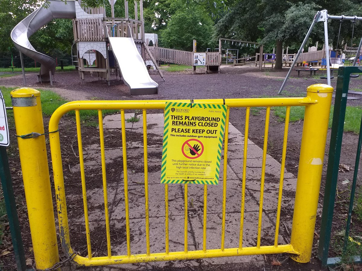 Remember, children's play areas are remaining closed in Bedford Borough for the time being due to the high local infection rate.  Please work with us and respect this closure, to keep people safe and help slow the spread of the virus.  Find out more: https://t.co/2sls8rAEjz https://t.co/uQQh5WZ4Kb