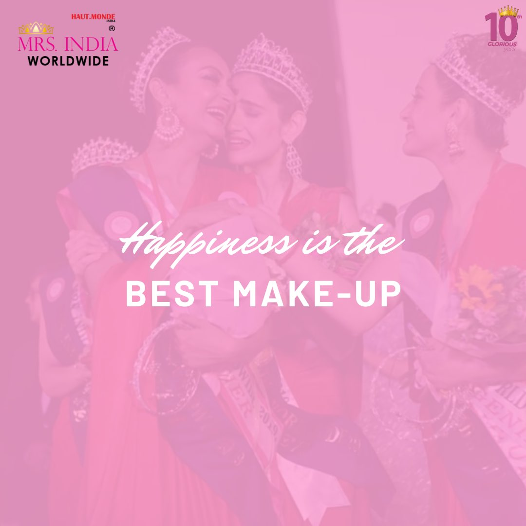 A reminder:  Don't forget to smile today and be grateful that you are alive and happy and have something to look forward to in your life❤️  #selfcare #happiness #beauty #makeup #pageant  #fashion #lifestyle #mrsindiaworldwide #life