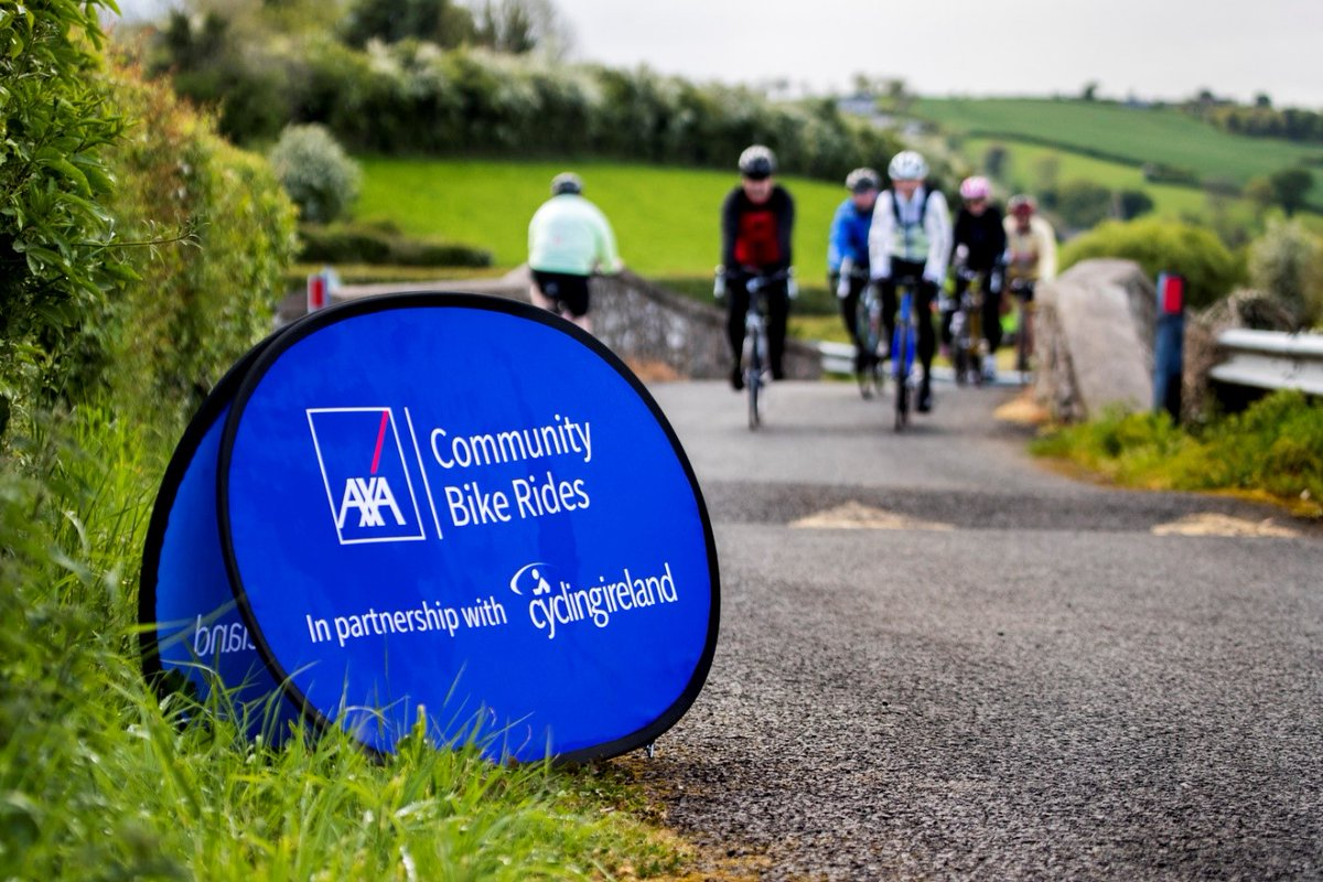 AXA Community Bike Ride Leaders are delighted to announce the return of Group Rides!  Recommencing from this weekend in Cavan, Cork, Down, Dublin, Galway, Kerry, Kildare, Kilkenny, Tipperary, Tyrone & Waterford, with more to be added!  Register for FREE👇 https://t.co/bSwXnYHBrj https://t.co/3XYcV1FDK6