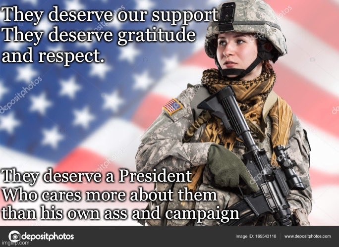 Yeah they do. Cadet Bonespurs doesn't give a shit. To him they are a talking point or a photo op. Period! #VoteBlueToSaveAmerica2020 <br>http://pic.twitter.com/6qm1TR981Z
