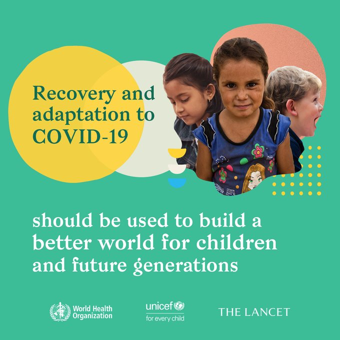 Authors of the @WHO, @UNICEF + @TheLancet #FutureChild Commission are urging policy makers to put children at the centre of #COVID19 recovery efforts. They highlight the pandemics secondary effects on children + the need to create more equal societies. thelancet.com/journals/lance…