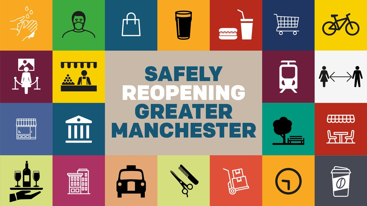 Thank you to everyone working in the hospitality sector who has been working tirelessly to prepare for reopening safely. 🙌 We appreciate everything you're doing to put Greater Manchester back on its feet! #TogetherGM #SafeGM