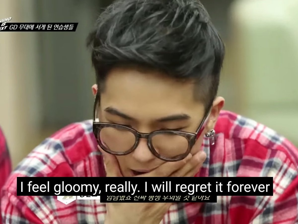 Did you know that Mino was supposed to be with GD on Crooked cb perf? He was taken out because he injured himself while practicing. He felt so gloomy but our sweetest GD still acknowleged his presence. #TheSuperiorWaypic.twitter.com/VVFA7hFdrk  by jinwoo • my ☀️ | STAN TREASURE 💎