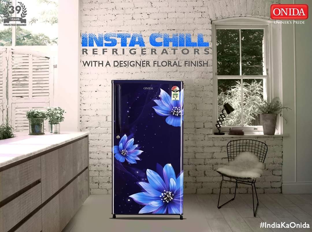 Instachill Refrigerators with a Designer Floral Finish available on Flipkart. - https://t.co/HhfxRzCHIL . #Onida #IndiaKaOnida #Refrigerators #IndiaKaRefridgerator #InstaChill #Refrigerator #Flipkart https://t.co/IPS1NmX9yM