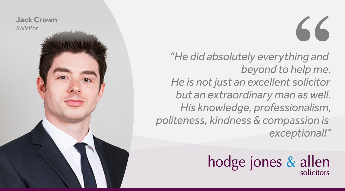 Our #FeedbackFriday post is for Jack Crown, #Solicitor in our #HousingLaw team. Jack and the team have continued to work throughout #lockdown to help clients from all walks of life overcome #housing issues. Well done, Jack!   #SocialHousing #Solicitors #Camden #London #NW1 https://t.co/81mTOY4Mtr
