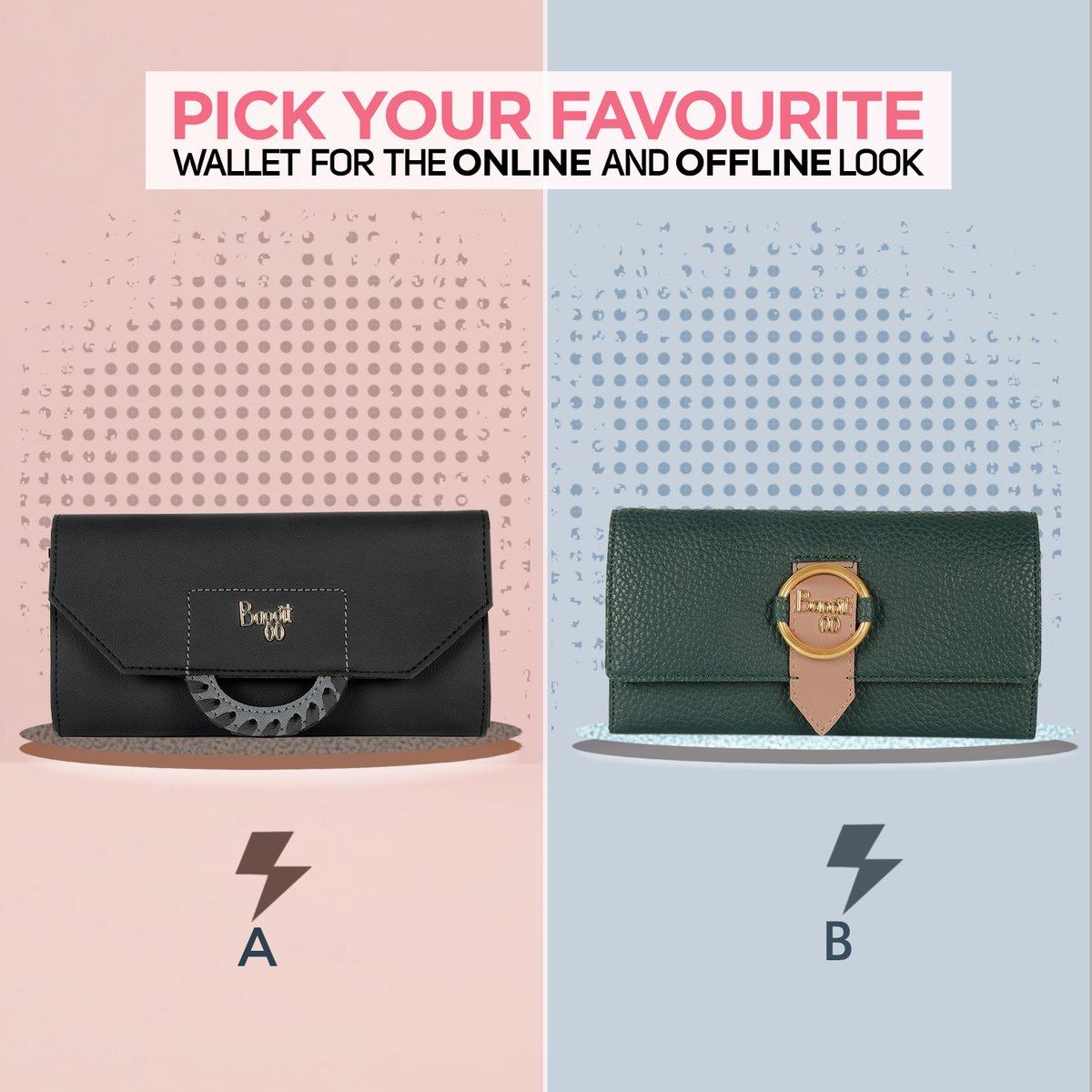 Getting decked up is incomplete without a perfect accessory. Isn't it?Tell us which one between A or B are you going to pick for your outings? A - LW CLOSET SCAN BLACK B - LW DREA RABBIE GREEN #MadeInIndia #wallet #ladieswallet #fashiontips https://t.co/RkJjhxfWaC