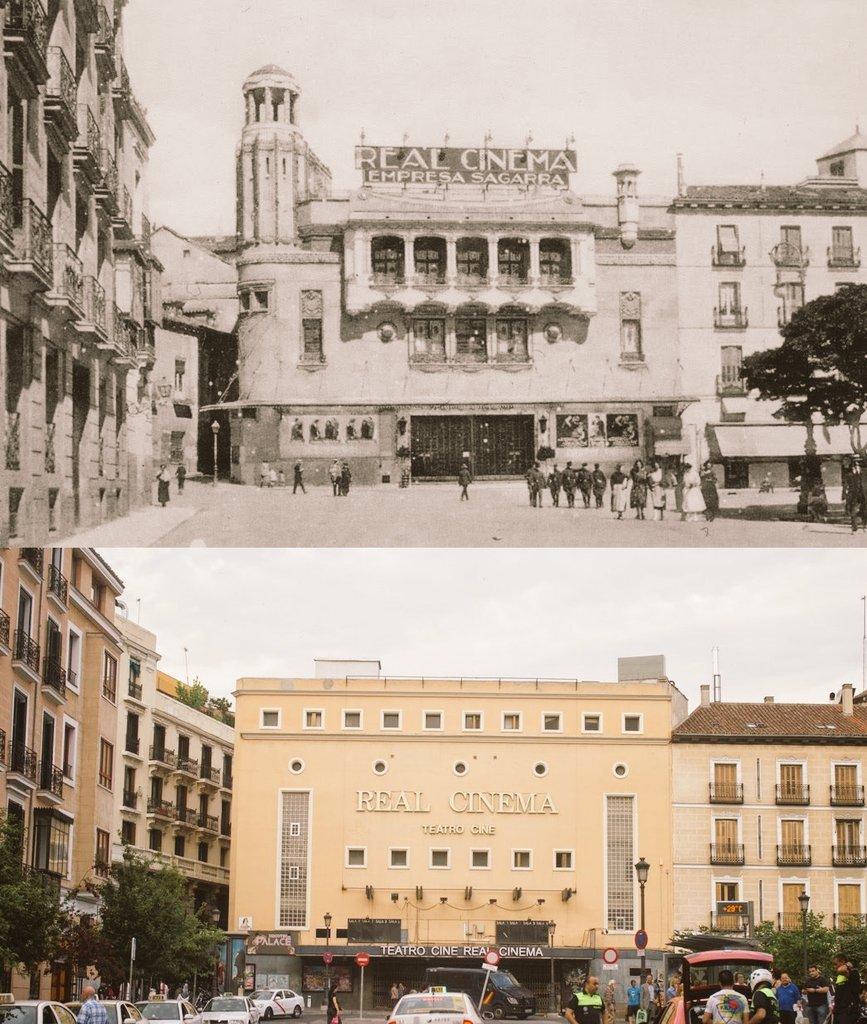 Aprovechando que el Real Cinema ya se ha demolido para levantar un hotel que parece sacado de un polígono industrial, aquí viene el antihilo los hilos guays de Madrid: los antes y después más dolorosos en los que nadie hizo nada. https://t.co/TwrCtM3Bw2