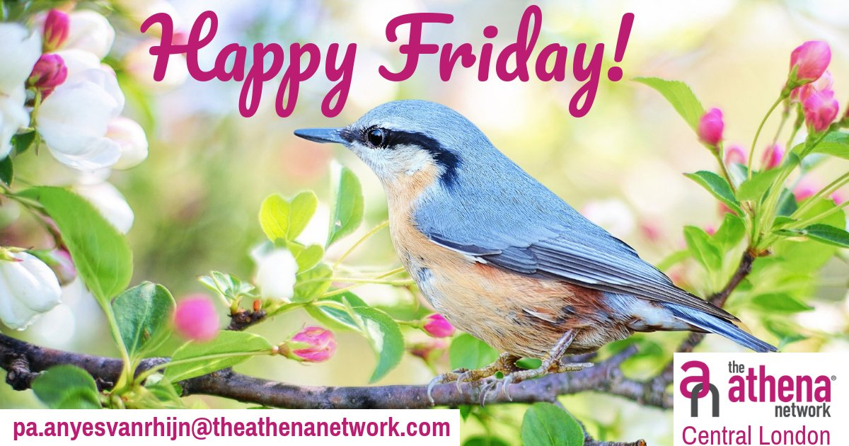 Happy Friday!  Have a lovely weekend, and relax, ready to go for another busy week ahead!  #AthenaCentralLondon #MagentaTribe https://t.co/JdNYYAB2k1