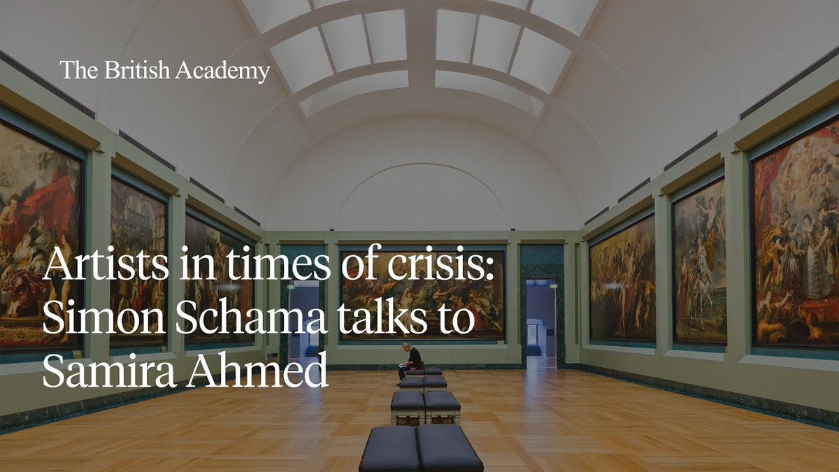 Our online event Artists in times of crisis: Simon Schama talks to Samira Ahmed starts soon. Join Professor @simon_schama FBA and @SamiraAhmedUK on our YouTube live stream at 4pm: youtu.be/OuO9nu-wV_Y