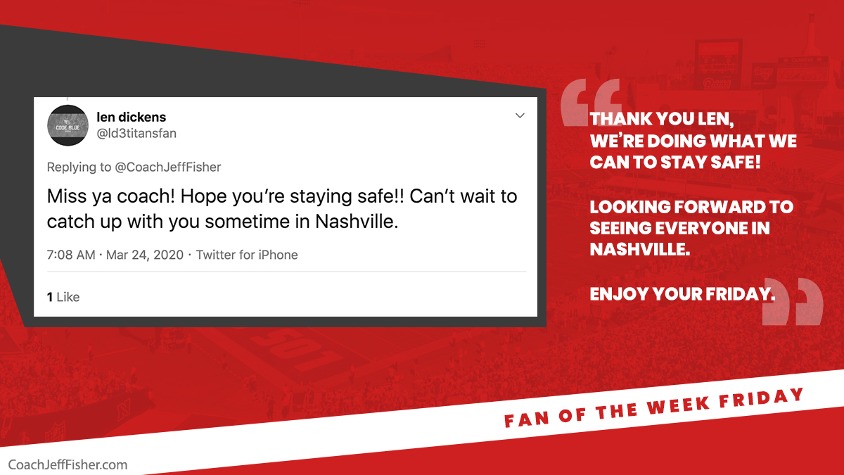 #FanOfTheWeekFriday  It really makes my day to have fans like @ld3titansfan 🙏  Man I love the city of Nashville! https://t.co/sUSXLp7eI7