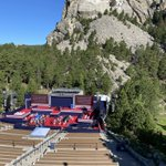 Good morning from Mt. Rushmore! President Trump and the First Lady arrive later today for early 4th Of July festivities at the memorial.