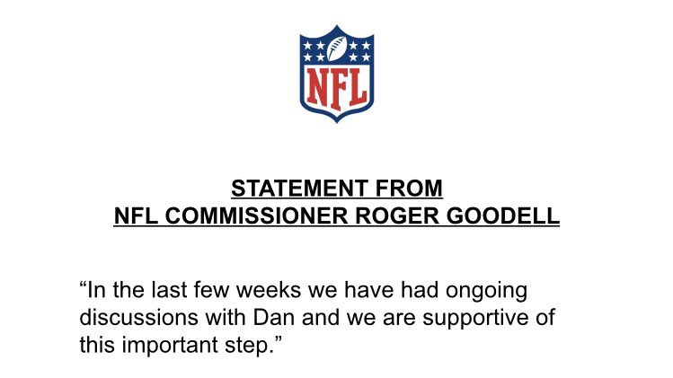 The NFL's statement.