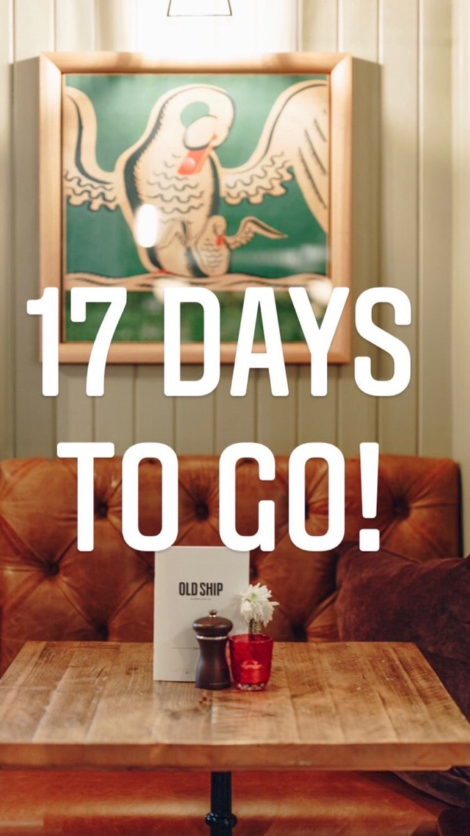 Just 17 days & counting till u can join us. Bookings enquiries can be made via our pub website.  Please download our On Tap app ahead of your visit to order and pay. #thirsty #oldshiphammersmith #food #foodie #hammersmith #chiswick #westlondon #riverpub #dogfriendly #youngspubs https://t.co/r0Swgr5RlW
