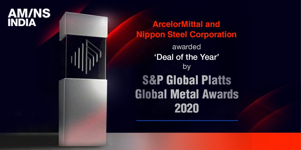 AM/NS India is proud that @ArcelorMittal and @nippon_steel_ have been awarded 'Deal of the Year' recognition from @SPGlobalPlatts in its annual Global Metals Awards for excellence and accomplishments in the metals industry. #SmarterSteelBetterWorld. https://t.co/YW6gaomCjM