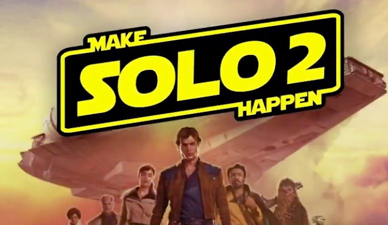 #MakeSolo2Happen has been a top trending topic in the world on two separate occasions, but keep using it every time you tweet your hopes for more #Solo adventures! #StarWars