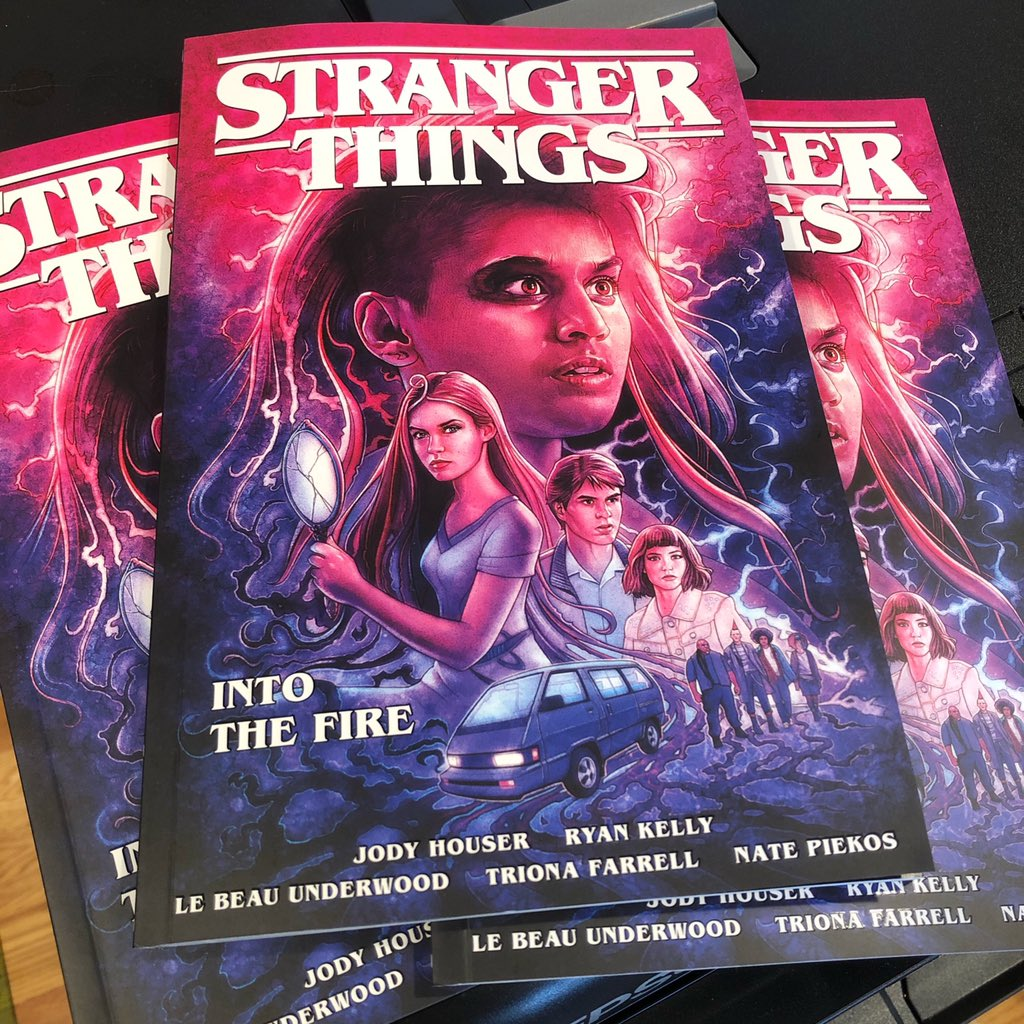 Great News for STRANGER THINGS fans! Stranger Things: Into the Fire TPB in hand. On sale July 28! Also, the Covid-delayed issue 4 in stores next week! Great news for collectors! BEAUTIFUL work by @Jody_Houser @Treestumped @LebeauUnderwood @blambot @SScushing @PenBerzerker https://t.co/FeL45REHhd
