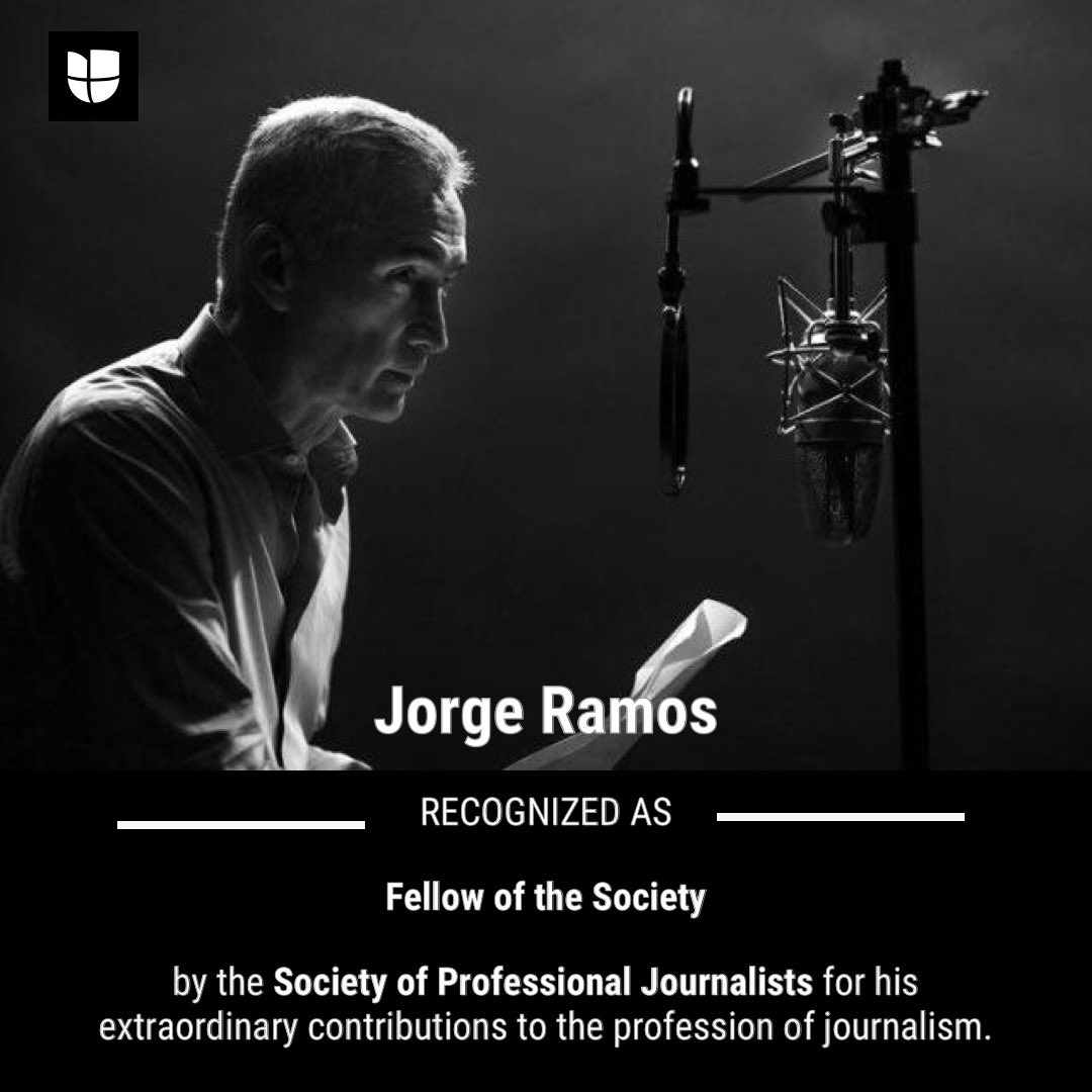 >>@jorgeramosnews has been recognized as 'Fellow of the Society' by the Society of Professional Journalists for his extraordinary contributions to the profession of journalism. https://t.co/SoCZngLqda (via @spj_tweets) https://t.co/1o8Hm1hQXP