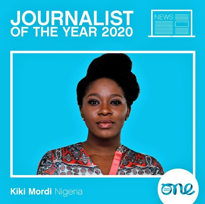 Wow 🤩   Nigerian Journalist and Filmmaker, Kiki Mordi defeats competitors around the world to emerge one of the winners of the 2020 One Young World Journalist of the Year award. She will receive the award in Munich, Germany. https://t.co/kEE8nTWnPN