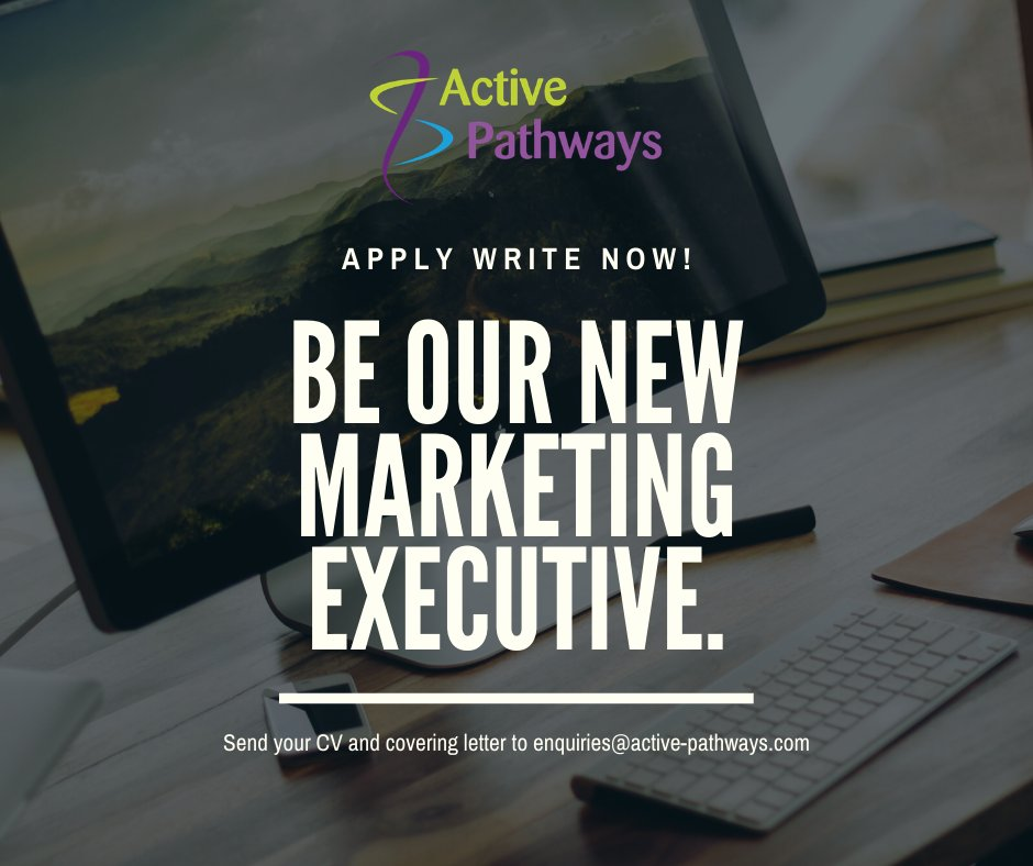 "We're recruiting to a brand NEW role @activepathways1 A real opportunity to make a difference and develop as we grow.  Full details available on our website  https://t.co/10ck7NXeJv  Like the ad says ""Apply Write Now"""
