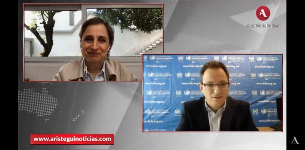 #AristeguiEnVivo | Hablamos en directo con Jesús Peña, Representante adjunto del @ONUDHmexico, sobre la campaña 'Voces de defensores y defensoras de los derechos humanos en el corazón de la respuesta' https://t.co/h4YdCNHypq https://t.co/E40lHcWLe2