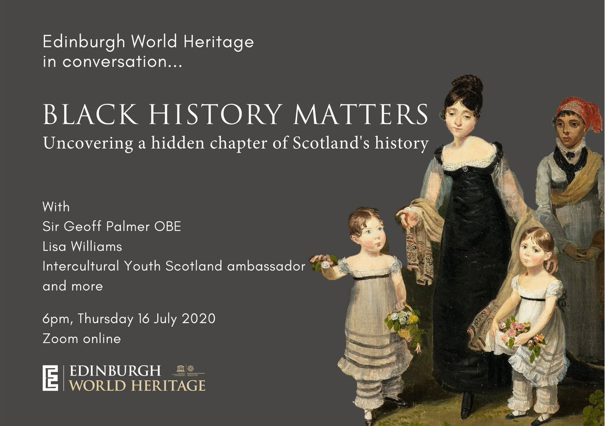 BLACK HISTORY MATTERS: uncovering a hidden chapter of Scotlands history. Join us for the latest in our series of conversations with leading experts and members of the community. Free tickets on sale now: bit.ly/EWHblackhistor…