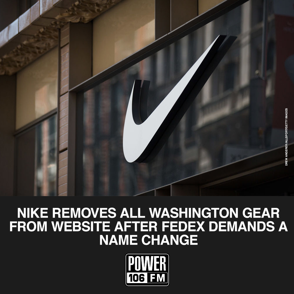 #Nike removes all Washington Redskins gear from website After FedEx Demands a Name Change. https://t.co/s4XNTtXA85