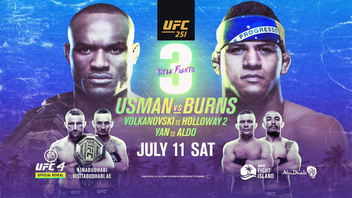 UFC 251 comes to us all the way from #fightisland on Saturday July 11! Mark your calendars and make sure #richmondspubyyc is the #fightnight destination... LIVE ON PPV AT RICHMONDS PUB JULY 11 📺  #yyc #calgary #yycpubs #yycbars #UFC250 #fightnight #UFCbars  #UFC #UFCfightnight https://t.co/nV8StH1Dix