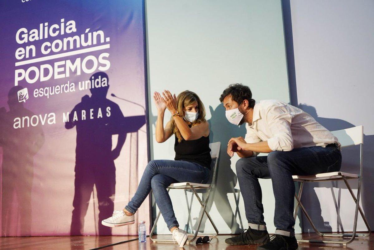 Volver a Galicia, á miña casa, sempre é un pracer, pero aínda o é máis se é para apoiar o cambio político xunto ás compañeiras e compañeiros de @gecam_ ☺️ Grazas por este acto tan fermoso en Ourense. Construímos xuntas un futuro digno en Galicia. #ÉoMomento!