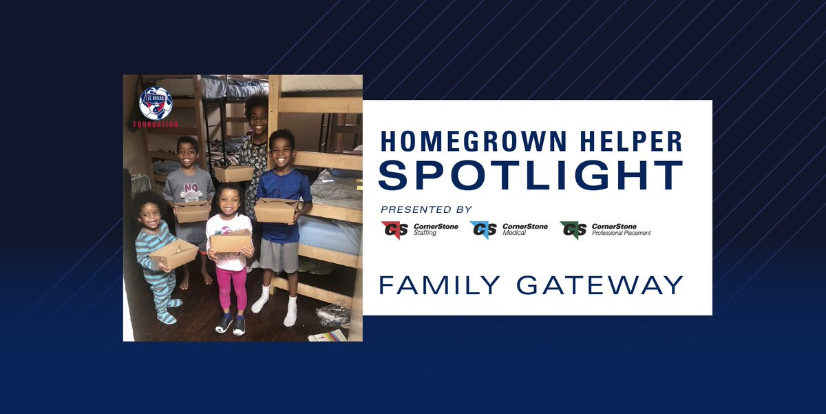 The FC Dallas Foundation and @CornerStoneDFW is excited to continue to announce the 2020 Community Action Grant recipients!   Congratulations to this week's spotlight, @FamilyGateway!  MORE: https://t.co/pJ1rnoVmVM https://t.co/tZDDUAMVLU