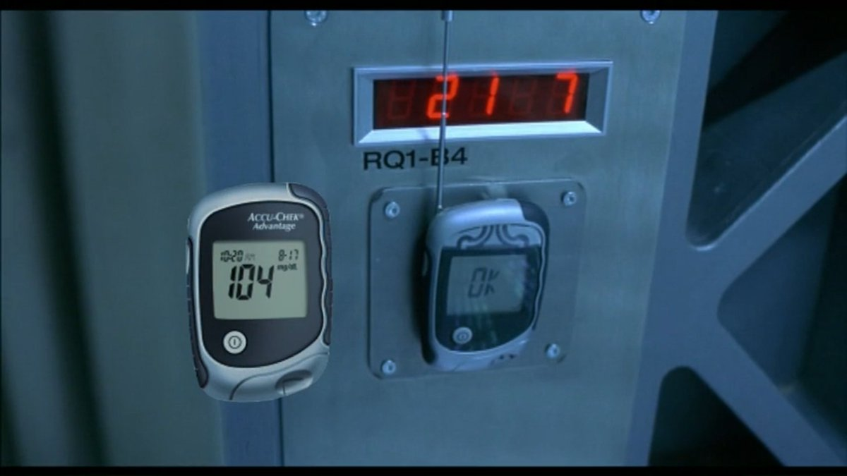 This transmitter that cracks access codes in Resident Evil (2002) is a glucose meter with an antenna #MovieProps #Filmmaking https://t.co/oCNLfMqzP3