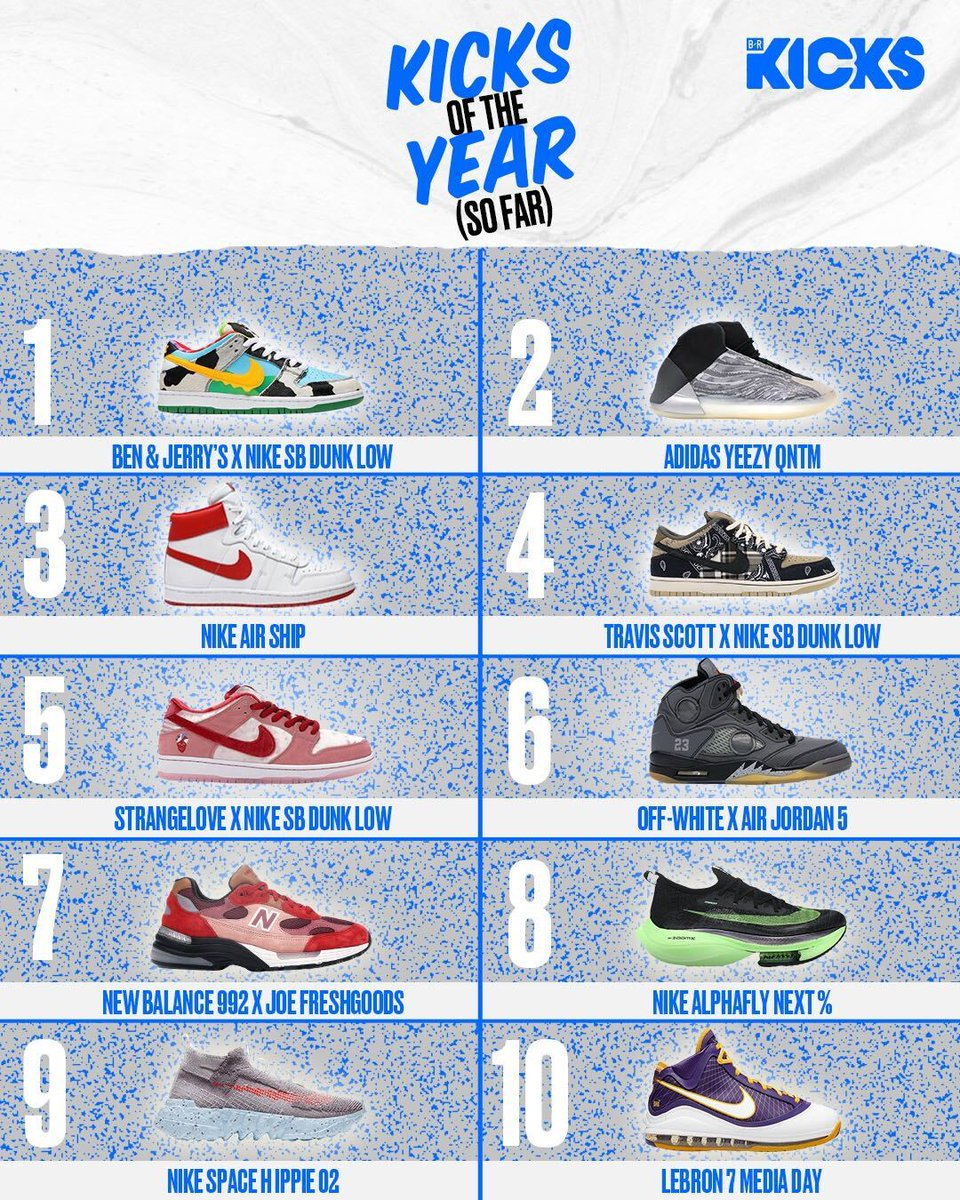 The B/R Kicks top sneakers of the year (so far). Thoughts? 🏆