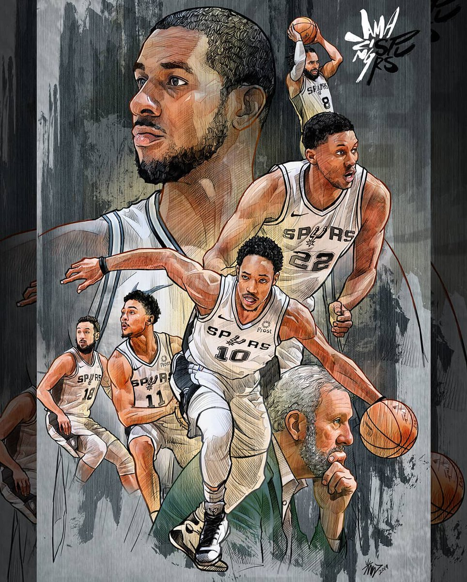 Its Fan Art Friday! 🎨 Keep submitting your artwork to the Spurs Art Contest on the Spurs App and tag us on social using #SpursFanArt! (via inthekwangki/IG, draganas_art/IG, editglobalsports/IG, tattooedboy123/IG)