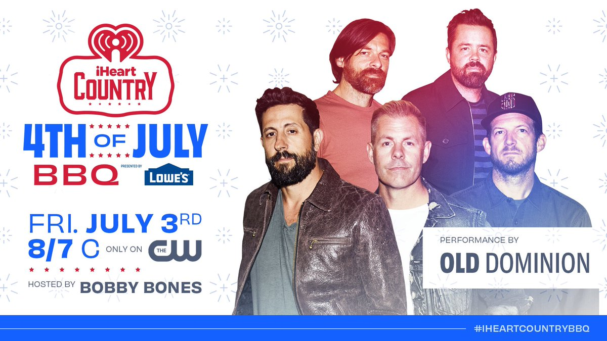 Looking forward to kicking off the #fourthofjuly weekend with @iHeartCountry. Join us for #iHeartCountryBBQ tonight at 8/7c on @TheCW.