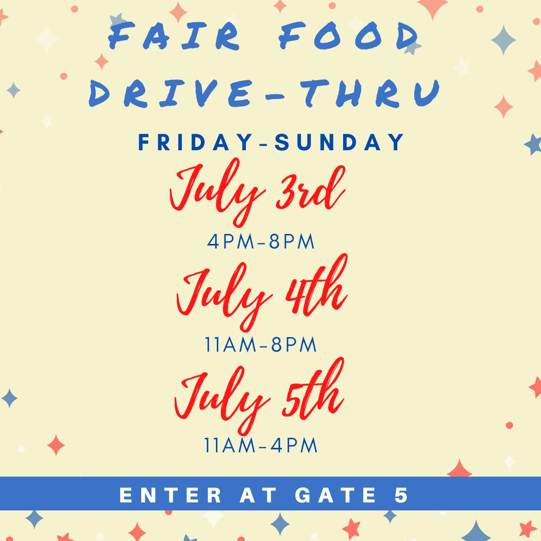 This is the last weekend for the Fair Food Drive-Thru! Stop out and get your Fair Food fix before Fair starts in September. Check out our website for more details. #VanWertCountyFair #FairFoodDriveThrupic.twitter.com/UDoMk3sdcW