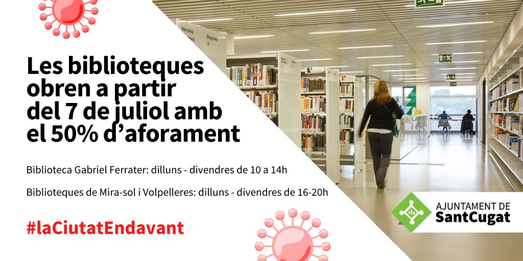 📢Les biblioteques #Santcugat amplien els seus serveis📢  ℹ️https://t.co/LhglwUF0Uc