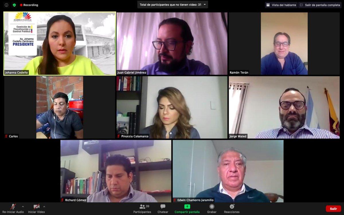 Ahora | La Comisión de @FiscalizacionAN se instala para recibir a @JorgeWated, presidente del Directorio del @IESSec, quien informará sobre las denuncias de los trabajadores que laboran para la compañía #Alfadomus S.A, de #Guayas. https://t.co/TV1NkqUw39