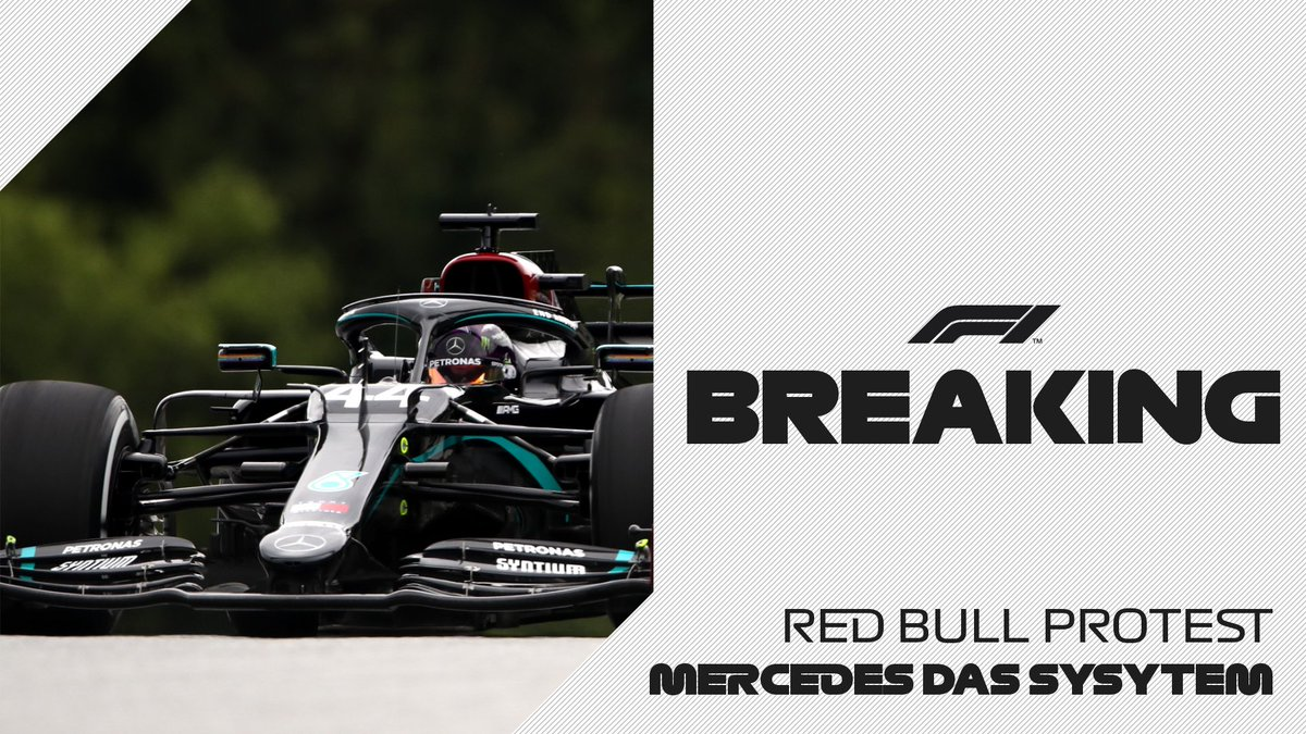 BREAKING: Red Bull have lodged a formal protest over the legality of Mercedes' Dual Axis Steering 'DAS' system  #AustrianGP 🇦🇹 #F1 https://t.co/CscK5LByiK