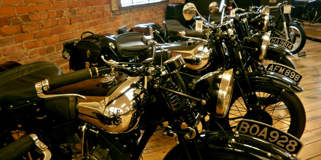 Brough Superiors, Vincents, Nortons, BSAs, Harleys, Indians, Laverdas, and even a Flying Merkel! So many beautiful #motorcycles in one place! Am I dreaming? http://bit.ly/oldmotorbikespic.twitter.com/Z0UEWctkgZ
