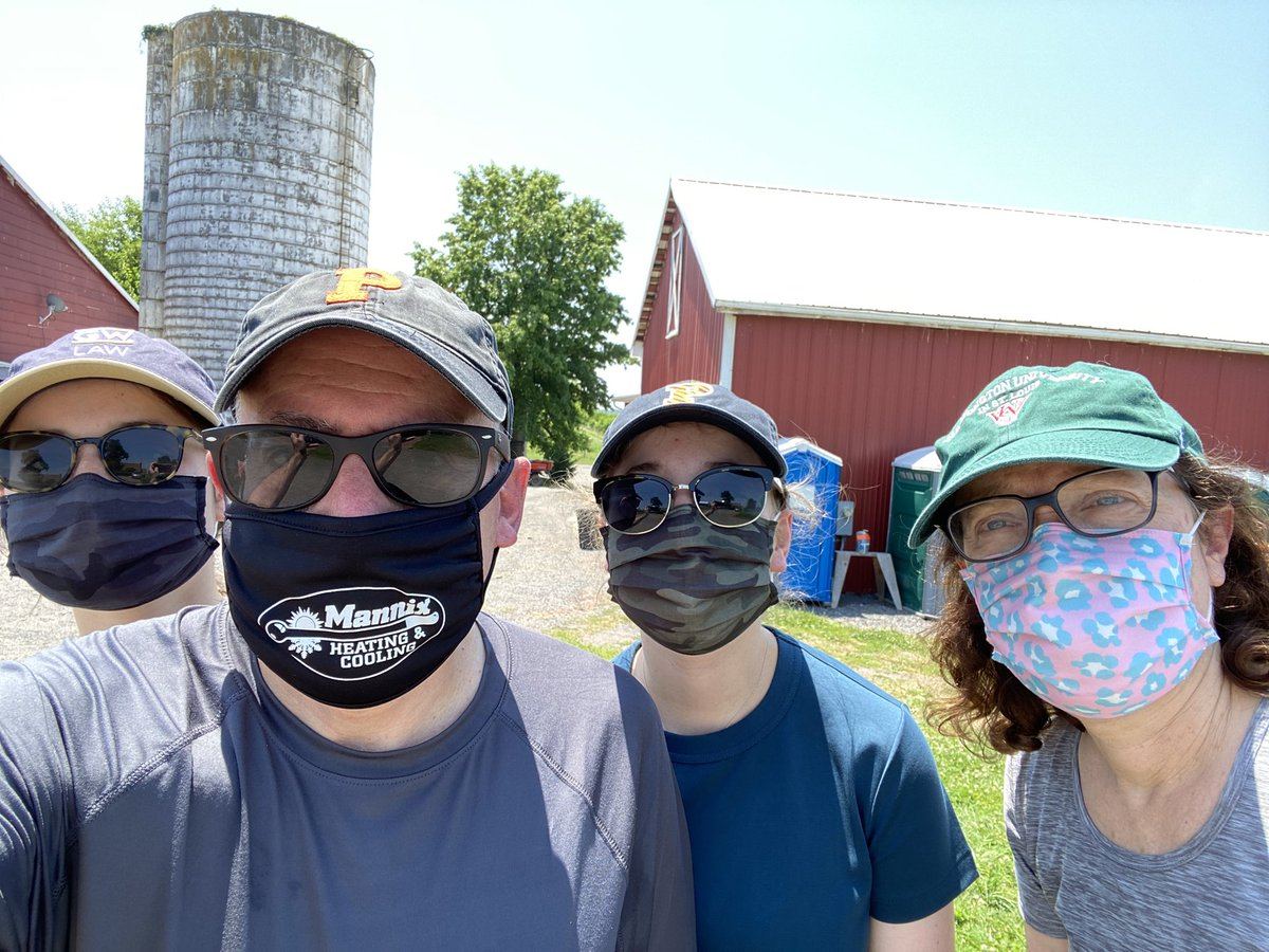 Peach picking in the beautiful Maryland countryside. #WearADamnMask